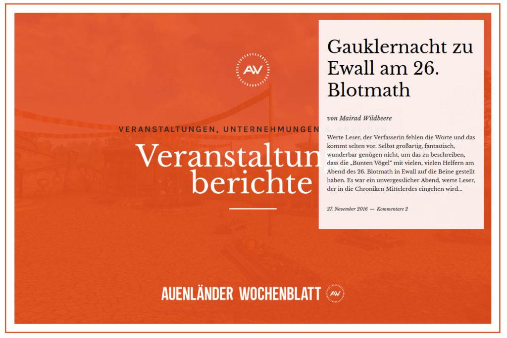 Auenländer Wochenblatt